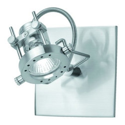 """Lite Source - Lite Source LS-13371 Down Lighting Wall Sconce from the Technic Collection - Wall / Ceiling LampA wall or ceiling mounted spotlight that is sure to highlight any room. Well-proportioned, all-metal in polished steel finish, this adjustable light can be mounted for a commercial space or the stylish home.35W Halogen GU-10 Type Bulb(Bulb Included)6"""" DepthShade Dimensions: 3"""" x 3"""""""