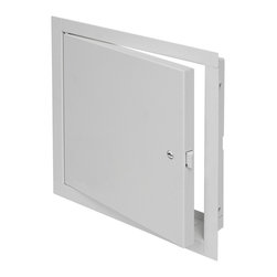 """Best Access Doors - Fire Rated Un-Insulated Access Door with Flange, 24""""x24"""" - 24"""" x 24"""" Fire Rated Un-Insulated Access Door with Flange Approved by Underwriters Laboratories (UL) for 1 1/2 hours """"B"""" label in walls and ULC for 2 hours """"B"""" label in walls. Designed to maintain continuity in a 2-hour fire barrier wall, the FB-5060 should be used whenever it is necessary to provide access in fire rated walls, when temperature rise is not a factor.    In-Stock and Ready to Ship !      -    Application: - Designed to provide access in walls and ceilings, while maintaining an invisible, architecturally pleasing appearance Product Features   Product Features - Concealed hinge - Self-closing - Self-Latching- Inside latch release  BA-FB-5060 Access Door Specifications: Door / Door Frame: Steel 16 gage door, 16 gage mounting frame. Flush to frame with reinforced edges, flange to be 1"""" wideHinge: ConcealedFire Rating (Walls): UL � 1-1/2 hour """"B"""" label. ULC � 2 hour """"B"""" label. (optional)Max size 36 x 48Standard Latch: Universal self-latching bolt, operated by either a knurled knob or flush key. When master keying is required, doors can be prepared for rim or mortise cylinder locks.Finish: Steel: 5 stage iron phosphate preparation with prime coat of White alkyd baked-on enamel."""