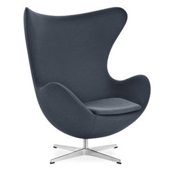 Arne Jacobsen Egg Chair - Designed by Arne Jacobsen in 1958, the Egg Chair is a modern icon (and yes, I've dedicated an entire ideabook to it). It's curves envelope you in comfort, and the sculptural shape and well known form complete a space with the ultimate amount of modern chicness.