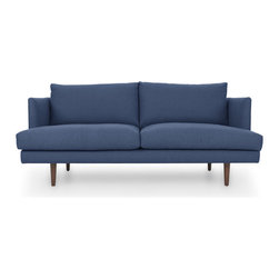 Bryght - Blue Mid-Century Modern Love seat | Carl Mid-Century Modern Furniture - Mid century inspired design, the Carl loveseat is as comfortable as it is decadent.