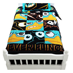 Jay Franco and Sons - Phineas Ferb Twin Comforter Set Agent P Never Flinch Bedding - Features: