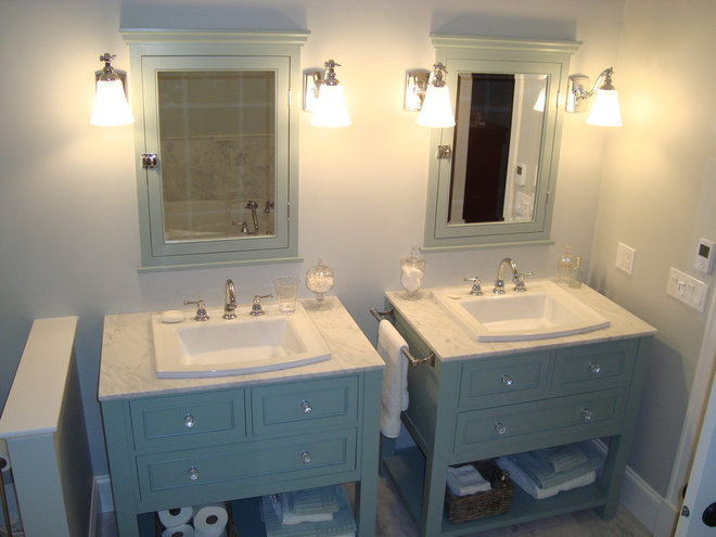 Traditional Bathroom Vanities And Sink Consoles by Old Kranky's Custom Woodworking