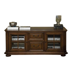 Riverside Furniture - Riverside Cantata 63 Inch TV Console with Glassdoor - Riverside Furniture - TV Stands - 4943 - With a traditional appeal and superb craftsmanship our Cantata theater collection adds style and comfort to your entertainment possibilities.Features: