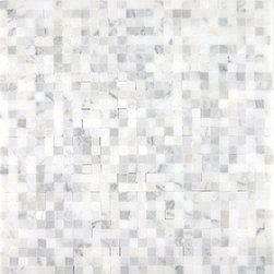 Mini Mesh Mosaics, Calacatta Marble - Polished - Sold per Square Foot