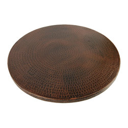 "Premier Copper Products - 18"" Hand Hammered Copper Lazy Susan - Uncompromising quality, beauty, and functionality make up this Hand Hammered Copper Lazy Susan."