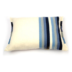 Berber Handwoven Tunisian Pillow - Simple and unique — this is one Berber throw pillow that won't overwhelm your sofa. Beautifully handwoven, these authentic Tunisian pillows are made from 100 percent organic wool and come in five different colors. Now you can add culture to the room without overdoing it.