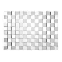 ZUO - Reflect Mirror - Like a chess board in constant motion. The Reflect Mirror adds a modern air to any wall. Comes with dual wires for multiple hanging options.