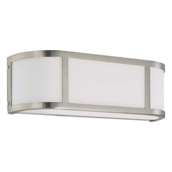 Nuvo Lighting - Nuvo Lighting 60-2871 Odeon 2-Light Wall Sconce with Satin White Glass - Nuvo Lighting 60-2871 Odeon 2-Light Wall Sconce with Satin White Glass