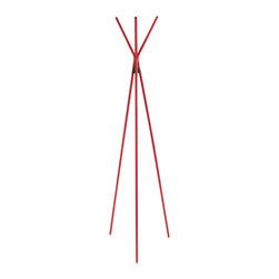 Eurostyle - Euro Style Celia Collection Coat Rack in Red - Coat Rack in Red in the Celia Collection by Eurostyle