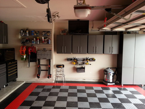 Malcolm's: 2013 Garage Makeover: Modular Flooring & Ulti-Mate Cabinets