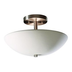 """Justice Design Group - Justice Design Group CER-9690 Two Light 13.5"""" Indoor Round Bowl Semi-Flush Fixtu - Radiance 13.5"""" Indoor Round Bowl Semi-Flush Fixture Rated for Damp Locations from the Ceramic CollectionThis contemporary / modern 13.5"""" semi-flush fixture from the Radiance Collection is rated for damp locations and indoor use.   For your convenience this fixture is offered in a multitude of finishes and the unfinished ceramic finish option (Bisque) is paintable, allowing you to customize this fixture to suit any interior.  The openings in this fixture allow light to wash up from the fixture while the multiple lamping options allow you to design this fixture to fit your lighting needs.  The large selection of decorative cut-outs make this fixture even more customizable to suit your needs.From an elegant lamp atop a contemporary end table to a dramatic sconce illuminating a formal entryway, Justice Design offers a wide array of lighting solutions for residential and commercial settings. Create a mood, complement a theme, or simply add the perfect accent with a Justice Design decorative lighting fixture.  With over 200 different shapes and more than 35 different finishes, you can customize our fixtures to suit any decor. From paintable Bisque to faux finished masterpieces hand crafted by skilled artisans, Justice Design offers endless design possibilities for any environment - indoor or outdoor."""