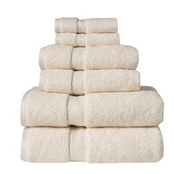 Luxurious Egyptian Cotton 900 Gram 6-Piece Cream Towel Set - Luxurious 900GSM 6-Piece Cream Towel Set