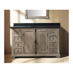 Traditional bathroom vanities - Going Gray: Aged Wood Bathroom Vanities For A Natural Antique Look - HomeThangs.com