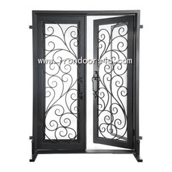 wrought iron entrance door - [Main Material]Wrought iron and glass