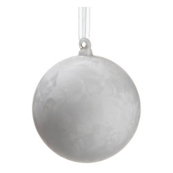Silk Plants Direct - Silk Plants Direct Frost Glass Ball Ornament (Pack of 12) - Silk Plants Direct specializes in manufacturing, design and supply of the most life-like, premium quality artificial plants, trees, flowers, arrangements, topiaries and containers for home, office and commercial use. Our Frost Glass Ball Ornament includes the following: