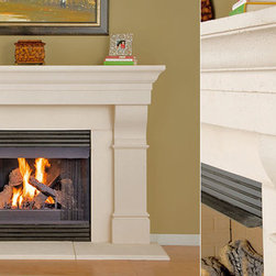 Craig Stone Fireplace Mantel - The Craig stone fireplace mantel has stylish detailing that would make any contemporary space shine. Designed with sleek simplicity in mind, it's the room upgrade you've been dreaming about.
