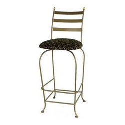 "Grace - Carolina Swivel Barstool with Arms - Features: -Painted according to your choice of metal finish. -Ships fully assembled. -Dimensions: 22"" W x 20"" D x 39"" H. -Artistically crafted in wrought iron. -Available in 12 designer metal finishes. -Suited for Residential use only. About Grace Grace Manufacturing is a metal and wrought iron furniture manufacturing company located in Rome, GA. The company has been in business for 25 years and continues to employ skilled artisans and craftsmen. In addition to their state of the art manufacturing equipment they still assemble and finish many products by hand. Many items in the Grace Collection are fully hand made or hand painted. With products ranging from barstools, counter stools, and dinettes to wrought iron beds, hanging potracks, bakers racks and more, Graces line meets all professional and home needs. By implementing unique styles and ideas to traditional products, Grace has created an exceptional balance between creativity and practicality. Their design styles range somewhere between whimsical, neo classic and traditional, thus creating a truly astonishing decor for any inside space."