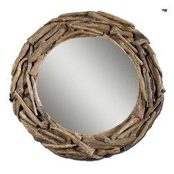 www.essentialsinside.com: round teak root mirror - Round Teak Root Mirror by Uttermost, available at www.essentialsinside.com