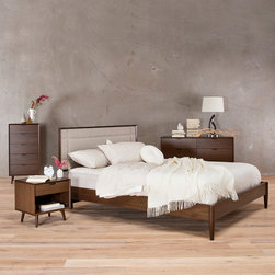 Juneau Bedroom - Juneau Queen Bed, High Chest, Double Dresser, Nightstand