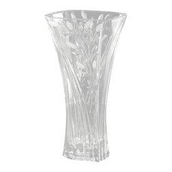 Dale Tiffany - Dale Tiffany GA80036 Crystal Leaf Contemporary Vase - Crystal Leaf VS