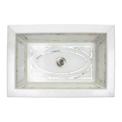 Graphic Mother of Pearl Inlay Sink - Linkasink -