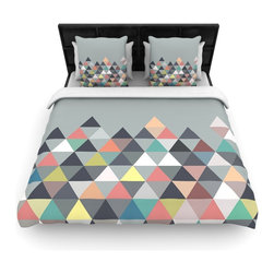 """Kess InHouse - Mareike Boehmer """"Nordic Combination"""" Gray Abstract Fleece Duvet Cover (Queen, 88 - You can curate your bedroom and turn your down comforter, UP! You're about to dream and WAKE in color with this uber stylish focal point of your bedroom with this duvet cover! Crafted at the click of your mouse, this duvet cover is not only personal and inspiring but super soft. Created out of microfiber material that is delectable, our duvets are ultra comfortable and beyond soft. Get up on the right side of the bed, or the left, this duvet cover will look good from every angle."""
