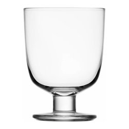 Iittala - Lempi Universal Glass 10.5 Oz. Clear, Clear - Whatever your beverage of choice, this classic goblet makes a perfect vessel. A simple curved body on a sturdy pedestal is attractive and able to stand its ground when things get hectic at your table.