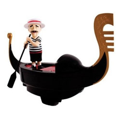 Swimways Singing Gondolier Pool Toy - With the Swimways Singing Gondolier Pool Toy you can bring a slice of Venice home to your pool. This charming gondolier is motorized to putter around your pool and even serenades you and your guests with three Italian songs. Not just for use in the day, this strong ABS-plastic gondolier lights up at night, too.About Swimways Based in Virginia Beach, Virginia, Swimways has one mission: make free time more fun through innovation. They provide your family with pool toys, floats, decorations, games, and even swim training gear to make sure you have no ordinary day at the pool. With over 35,000 storefronts and offices in Hong Kong and the United States, Swimways' diverse staff is dedicated to bringing you the best. Safety is their priority, helping to teach kids to swim for over 40 years with an innovative line of swim-training products. Swimways is here to help and stands by their products every step of the way.