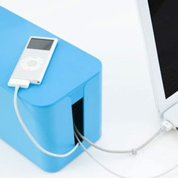 CableBox Mini - This funky little box is fun for adults, as well as kids. With all of your cable clutter, all you need to do is put a power strip in, plug in, and close the lid. I think this would also make a nice little shelf for my cell phone or iPod. Plus, it's a great and easy way for messy people to get organized.