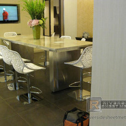 Fenway Marriot - Granite counter top with stainless steel #4 finish frame