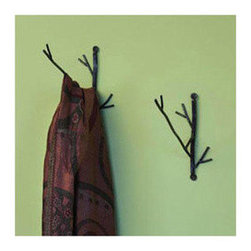 Ancient Graffiti Twig Wire Wall Hook - Tree branch hooks give the house a natural look.