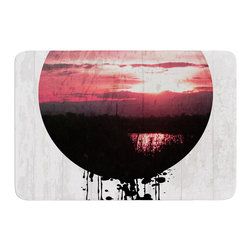 "KESS InHouse - Micah Sager ""Valley"" Sunset Splatter Memory Foam Bath Mat (24"" x 36"") - These super absorbent bath mats will add comfort and style to your bathroom. These memory foam mats will feel like you are in a spa every time you step out of the shower. Available in two sizes, 17"" x 24"" and 24"" x 36"", with a .5"" thickness and non skid backing, these will fit every style of bathroom. Add comfort like never before in front of your vanity, sink, bathtub, shower or even laundry room. Machine wash cold, gentle cycle, tumble dry low or lay flat to dry. Printed on single side."