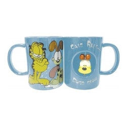 Westland - 4 Inch Garfield Cats Rule Dogs Drool Blue 12 oz Coffee Mug with Odie - This gorgeous 4 Inch Garfield Cats Rule Dogs Drool Blue 12 oz Coffee Mug with Odie has the finest details and highest quality you will find anywhere! 4 Inch Garfield Cats Rule Dogs Drool Blue 12 oz Coffee Mug with Odie is truly remarkable.