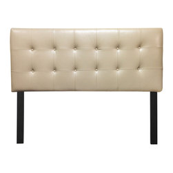 Sole Designs - 12 Button Tufted Lexus Doe Headboard - Enhance your bedroom decor with this stylish headboard which features detailed tufted stitching. This versatile headboard is height-adjustable and upholstered in beautiful fabric.