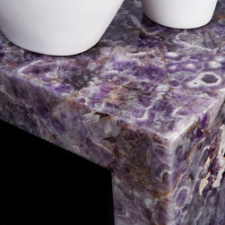 Amethyst Table - A small table made from Viola (amethyst) from our gemstone surface collection.