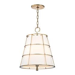 Hudson Valley Lighting - Hudson Valley Lighting 9818-AGB Savona Aged Brass Pendant - Hudson Valley Lighting 9818-AGB Savona Aged Brass Pendant