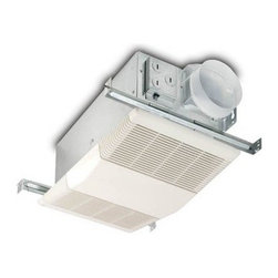 Broan-Nutone 605RP Bathroom Heat / Fan - A fresh, warm bathroom doesn't require a lot to get that way - all you really need is the NuTone 605RP Bathroom Heat / Fan, a discreet combination unit that quietly clears and heats air. Crafted with galvanized steel and a resin grille impervious to bathroom climates, the fan is outfitted with a built-in junction box with plug-in receptacles for the heater and fan motors, a nickel-chrome 1300W heating element, and a duct adapter with a snap-on backdraft damper. Freshening 70 CFM ventilation is delivered at a low 4 sone sound level. The unit fits a standard four-inch round duct and mounts to joists with easy-to-install adjustable hanger bars.Dimensions:Housing: 7.87L x 14.62W x 5.62H inchesGrille: 9.87L x 16.25W inchesAdditional FeaturesEasy-to-install adjustable hanger barsBuilt-in junction box with motor plug-in receptaclesNickel-chrome heating elementDuct adapter with snap-on backdraft damperAbout Broan-NuToneBroan-NuTone has been leading the industry since 1932 in producing innovative ventilation products and built-in convenience products, all backed by superior customer service. Today, they're headquartered in Hartford, Wisconsin, employing more than 3200 people in eight countries. They've become North America's largest producer of medicine cabinets, ironing centers, door chimes, and they're the industry leader for range hoods, bath and ventilation fans, and heater/fan/light combination units. They are proud that more than 80 percent of their products sold in the United States are designed and manufactured in the U.S., with U.S. and imported parts. Broan-NuTone is dedicated to providing revolutionary products to improve the indoor environment of your home, in ways that also help preserve the outdoor environment.