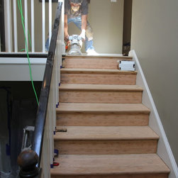 Residential remodel - Beverly Hills - Sanding unfinished second floor common area