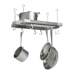 Small Gray Ceiling Pot Rack