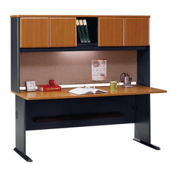 """BBF - Bush Series A 72"""" Computer Desk with Hutch in Natural Cherry - Bush - Office Sets - WC57472PKG1 - Bush Series A 72"""" Hutch in Natural Cherry (included quantity: 1) The Bush Furniture Natural Cherry Series A 72"""" Hutch is a bold complement to the Series A 72"""" desk (sold separately). This luxury hutch offers plentiful storage and privacy, turning your workspace into a tower of efficiency.  Features:"""