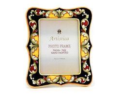 Artistica - Hand Made in Italy - Photo Frame: Deruta Vario Deluxe Black - Deruta Photo Frames: