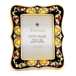 Artistica - Hand Made in Italy - PHOTO FRAME: Deruta Vario DeLuxe Black - DERUTA PHOTO FRAMES: Absolutely exclusive by Artistica!