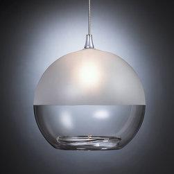 Milk Pendant Light - Our MILK blown glass pendant light, shown in Half Frost.