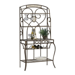 Hillsdale Furniture - Hillsdale Brookside Bakers Rack - This bakers rack is sure to complement any kitchen. An ideal addition to provide extra storage space for dishes, plants or kitchen accessories.