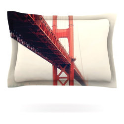 "Kess InHouse - Bree Madden ""Golden Gate"" Pillow Sham (Cotton, 30"" x 20"") - Pairing your already chic duvet cover with playful pillow shams is the perfect way to tie your bedroom together. There are endless possibilities to feed your artistic palette with these imaginative pillow shams. It will looks so elegant you won't want ruin the masterpiece you have created when you go to bed. Not only are these pillow shams nice to look at they are also made from a high quality cotton blend. They are so soft that they will elevate your sleep up to level that is beyond Cloud 9. We always print our goods with the highest quality printing process in order to maintain the integrity of the art that you are adeptly displaying. This means that you won't have to worry about your art fading or your sham loosing it's freshness."