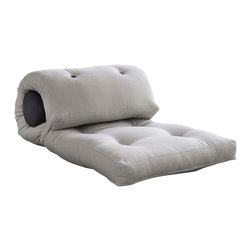 Karup Design - Karup Design Wrap, Vision-Grey - Featuring a large, stylish cushion with just the right amount of filling for extra back support, Wrap is an essential ingredient for having a good time. Whether you