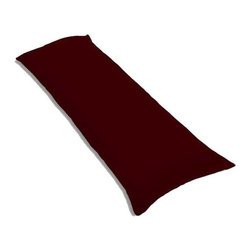 """SheetWorld - SheetWorld Butter Soft 100% Cotton Jersey Knit Body Pillow Case - Solid Burgundy - SheetWorld makes the softest and most plush 100% cotton jersey knit body pillow cases on the market. The cotton t-shirt like jersey knit _ will greatly enhance the comfort and feel of the pillow, helping to give you a restful night sleep. These pillow cases are designed with a zipper along side the length of the pillow to easily put on and remove. There are over28 beautiful solid colors available in the same high quality fabric to complement almost any decor. Measures 20"""" x 54"""". Machine Washable and tumble dry medium. Proudly made in the USA!"""