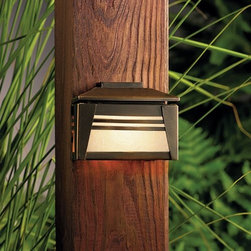 Kichler - Kichler 15110OZ Zen Garden Low Voltage Deck & Patio Light - Zen Garden - Kichler Landscape Zen Garden Low Voltage Deck & Patio Light from the Zen Garden CollectionAsian-inspired minimalist design for subtle deck lighting.
