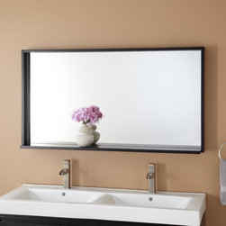 """48"""" Kyra Mirror - A bathroom gets a stylish boost from the expansive 48"""" Kyra Mirror, a perfect accompaniment to a modern vanity."""