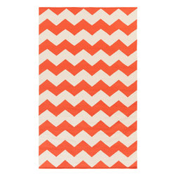 Artistic Weavers - Artistic Weavers Vogue Collins (Coral, Ivory) 5' x 8' Rug - This Hand Woven rug would make a great addition to any room in the house. The plush feel and durability of this rug will make it a must for your home. Free Shipping - Quick Delivery - Satisfaction Guaranteed